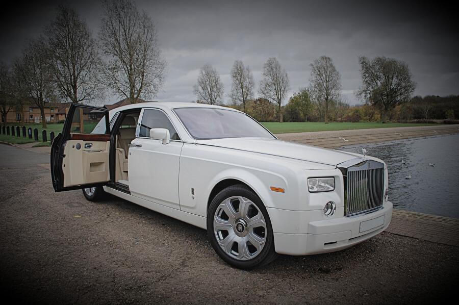 White Rolls Royce Phantom Prom Car Hire Luxury Car Hire